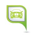 CAR GREEN pointer vector image vector image
