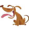 cartoon dog cartoon vector image vector image