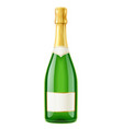 champagne wine bottle french vector image