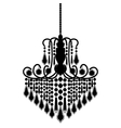 chandelier silhouette isolated on White background vector image vector image