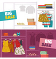 children clothes banners vector image vector image