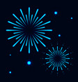 colorful firework abstract background vector image