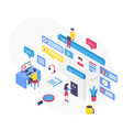 customer support isometric vector image