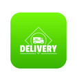 delivery truck icon green vector image