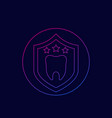 dental protection icon linear vector image vector image