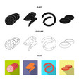 design of meat and ham logo collection of vector image vector image