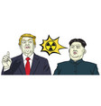 donald trump vs kim jong un nuclear sign vector image vector image