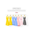 dress collection flat style colorful classic vector image vector image