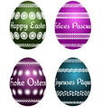 easter eggs with text vector image vector image