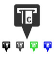 euro atm pointer flat icon vector image vector image