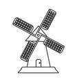 farmhouse windmill icon image vector image vector image
