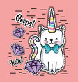 fashion cute patch trendy decoration vector image