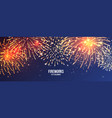 festive fireworks realistic colorful firework vector image vector image