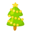 fir-tree isolated on white Cartoon vector image vector image
