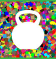 fitness dumbbell sign white icon on vector image