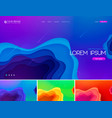 fluid liquid abstract background vector image vector image