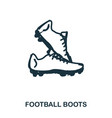 football boots icon mobile apps printing and vector image