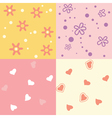 four seamless background vector image vector image