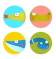 Fun Cartoon Animals Icons Collection for Kids vector image vector image