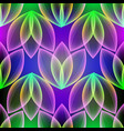 glowing colorful floral 3d seamless pattern vector image vector image