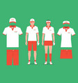 golf clothes vector image vector image