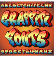 graffiti fonts vector image vector image