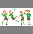 handball male player attack jump shooting vector image