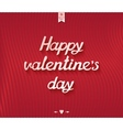 Happy valentines day inscription postcard design vector image vector image