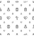 healthcare icons pattern seamless white background vector image vector image