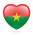 Heart icon of Burkina Faso vector image vector image