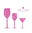 holiday lanterns line art three wine glasses vector image vector image