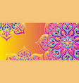 indian ornamental background ethnic folk mandala vector image vector image