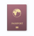 international identification document for travel vector image vector image