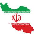 iran map vector image