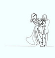 loving couple on white background vector image