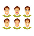 man emotions 2 vector image vector image