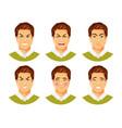 man emotions 2 vector image vector image