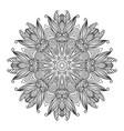 mandala black new 10 vector image vector image