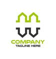 modern real estate and letter h logo vector image