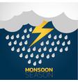 monsoon season logo icon design vector image vector image