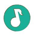 music player thumbnail icon image vector image vector image