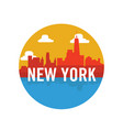 new york city silhouette vector image vector image