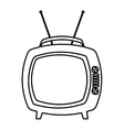 old tv isolated icon vector image vector image