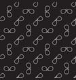 outline glasses dark seamless pattern vector image