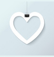 paper cut heart realistic vector image vector image