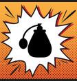 perfume icon comics style icon on pop-art vector image