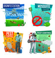 pest control icons disinsection service vector image vector image