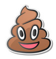 pile poo emoji shit icon smiling face vector image