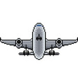 pixel airplane isolated vector image