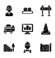 premise icons set simple style vector image vector image